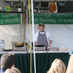A large crowd attended the informative cookery displays