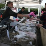 The fresh fish stall was very popular
