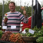 The enthusiastic Jeffrey, a stallholder from Belgium