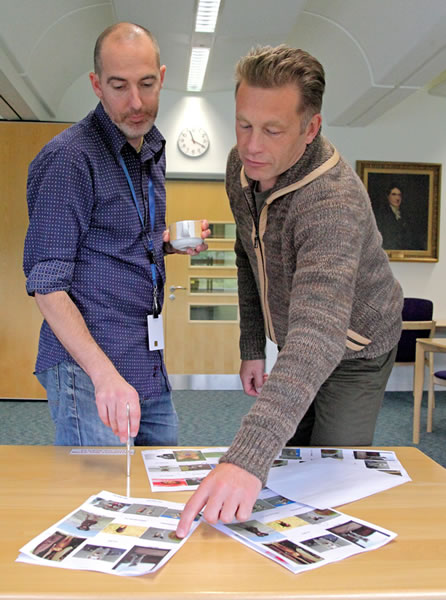 Chris Packham judging photographs